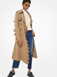 Michael Kors Gabardine Ruffle Trench Coat