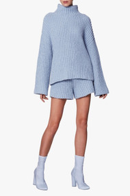 Sally LaPointe Silk Cashmere Oversized Mock Neck Sweater