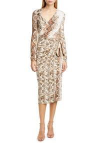 Altuzarra Dinah Snakeskin Print Midi Dress