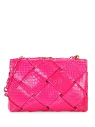 Nancy Gonzalez Woven Clutch in Pink