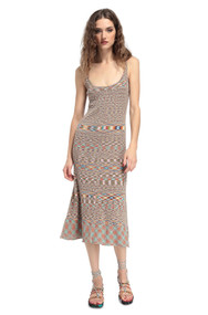 Missoni Sleeveless Dress in Tan