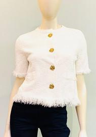 Oscar de la Renta Tweed Jacket in White