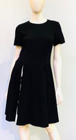 Oscar de la Renta Short Dress with Tie Detail
