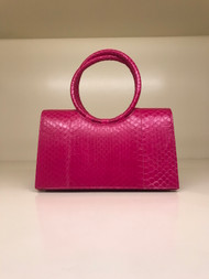 Nancy Gonzalez Circular Handle Clutch in Pink
