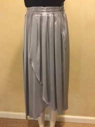 Fabiana Filippi Flowing Drawstring Skirt in Grey