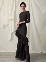 Chiara Boni La Petite Robe Roshanara Illusion Plisse Dress