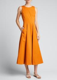 Loro Piana Sleeveless Cotton Stretch Dress