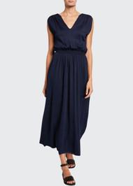 Loro Piana Silk V-Neck Sleeveless Dress
