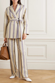 Loro Piana Cotton Striped Pants
