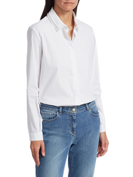 Fabiana Filippi White Shirt with Fringed Detail
