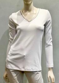 Fabiana Filippi Beaded V-Neck Top in White