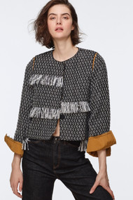 Dorothee Schumacher Fringe Tweed Jacket