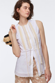 Dorothee Schumacher Fringe Sleeveless Blouse