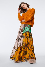 Dorothee Schumacher Floral Patch Silk Skirt