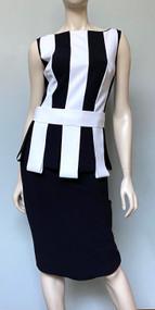 Chiara Boni La Petite Robe Julita Bic Dress in Black/White