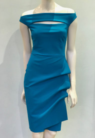 Chiara Boni La Petite Robe Peacock Blue Melania Dress