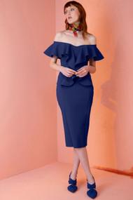 Chiara Boni La Petite Robe Blu Notte Sido Dress