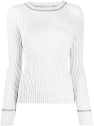 Marni Contrasting Stitch Ribbed Knit Top
