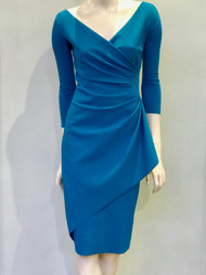 Chiara Boni La Petite Robe Peacock Blue Charisse Dress