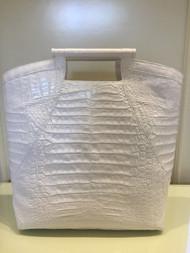 Nancy Gonzalez White Top Handle Bag