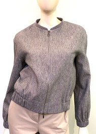 Fabiana Filippi Grey Bomber Jacket