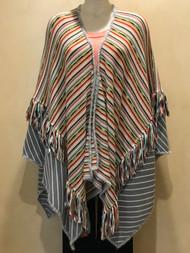 Missoni Striped Fringed Poncho