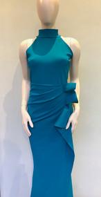 Chiara Boni La Petite Robe Peacock Blue Gudrum Gown