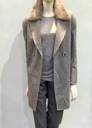 Fabiana Filippi Cashmere Coat with Mink Collar