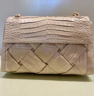 Nancy Gonzalez Small Woven Shoulder Bag