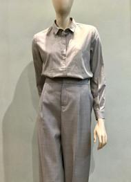 Fabiana Filippi Long Sleeve Top with Ball Chain Embellishments