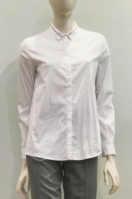 Fabiana Filippi Top with Ball Chain Trim Collar
