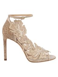 Jimmy Choo Lucele 100 Ivory Flower Lace Sandal