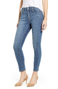 JEN7 by 7 For All Mankind Indigo Leopard Ankle Skinny Jeans