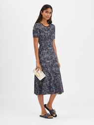 Oscar de la Renta Marled Midi Dress