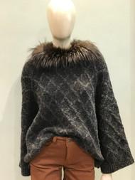 Fabiana Filippi Sweater with Fox Fur Trim
