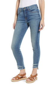 JEN7 by 7 For All Mankind Ankle Fringed Hem Skinny Jeans