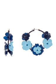 Oscar de la Renta Flower Hoop Earrings