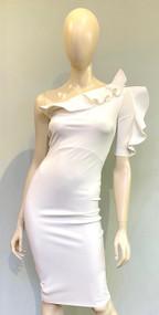 Chiara Boni La Petite Robe White Aleece Dress
