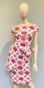Chiara Boni La Petite Robe Tahiti Orange Rashmi Print Dress