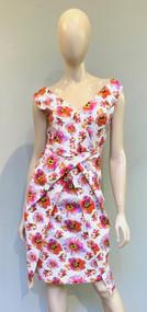 Chiara Boni La Petite Robe Tahiti Orange Zan Print Dress