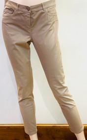 Fabiana Filippi Trevi Woven Gabardine Trousers in Brown
