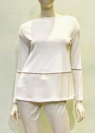Fabiana Filippi Contrasting Embellished Top