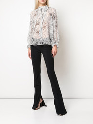 Adam Lippes Baby's Breath Printed Bow Top