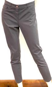 Fabiana Filippi Trevi Woven Gabardine Trousers in Dark Grey