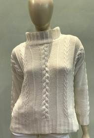 Hania Cream Cable Knit Sweater
