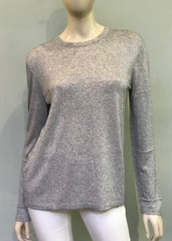 Michael Kors Long Sleeve Top in Pearl Grey