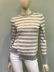 Michael Kors Striped Asymmetric Hem Top