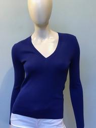 Michael Kors V-Neck Sweater in Lapis