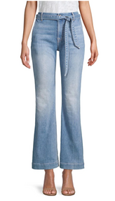 JEN7 by 7 For All Mankind Tailorless Flared Jeans with Belt