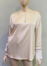 Fabiana Filippi Silk and Cotton Long Sleeve Top